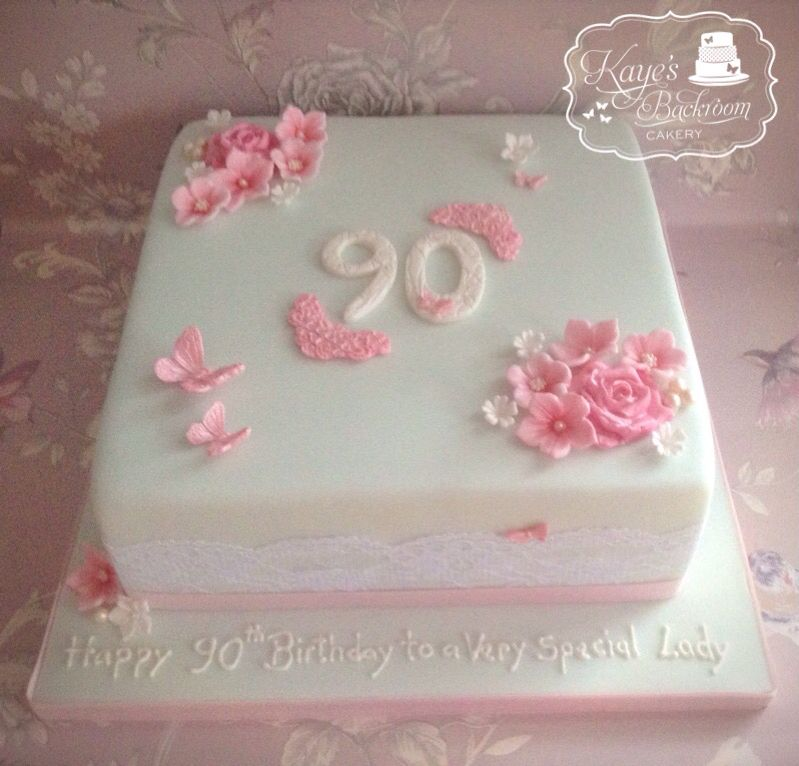 90s Clipart 90th Birthday Cake Powder Blue And Pink