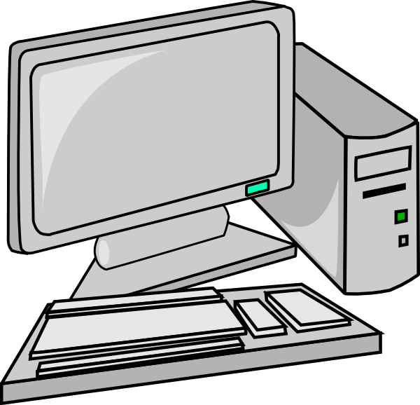 Image of desktop free. Clipart computer staff
