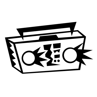 Boombox clip art s. 90s clipart sixty