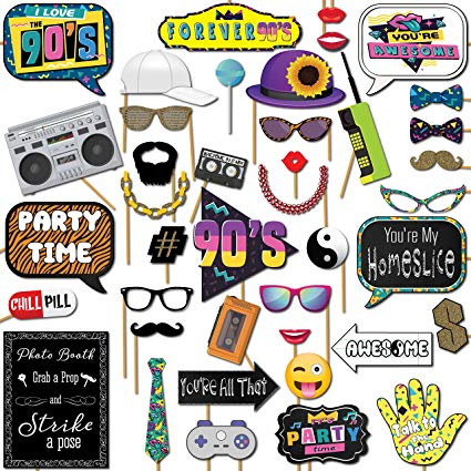 s party theme. 90s clipart throwback