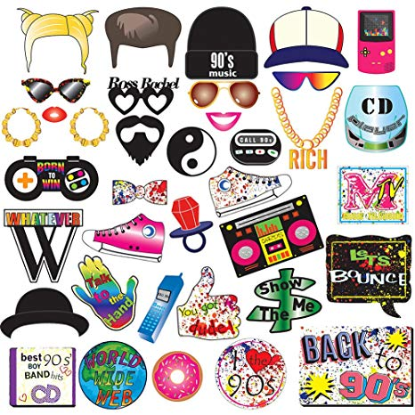 90s clipart throwback.  s party photo