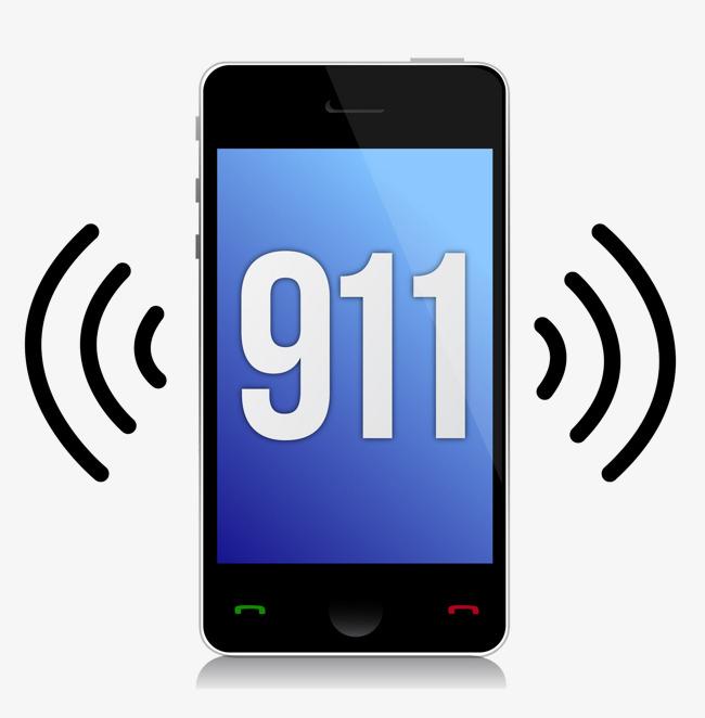 Dial cartoon mobile telephone. 911 clipart 911 phone