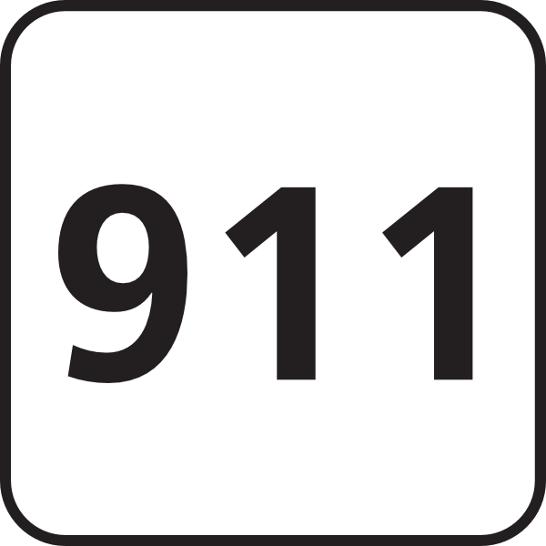911 clipart black and white. Emergencies clip art at