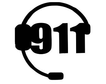 adhesive decal. 911 clipart dispatch