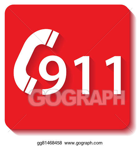 911 clipart emergency. Stock illustration gg gograph