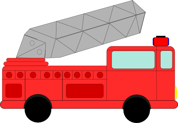 911 clipart fire emergency. Simple truck drawing at