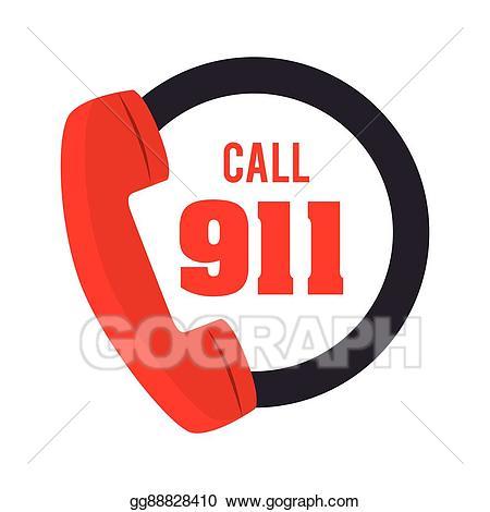 Clip art vector call. 911 clipart fire emergency