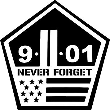Amazon com vinyl decal. 911 clipart never forget