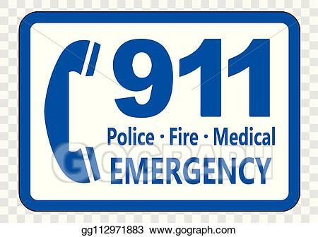 911 clipart transparent. Vector illustration call sign