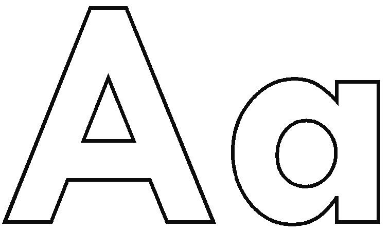 A clipart. Letter modern aa kind