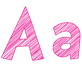 A clipart. Pink letter