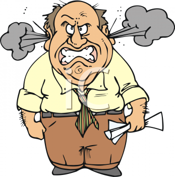 Angry people . Boss clipart mad