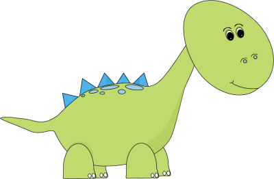 Animal clip art images. Blue clipart dino