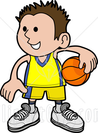 A clipart boy. Image illustration of happy