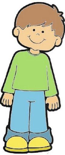 A clipart boy. Colour paper piecing kids