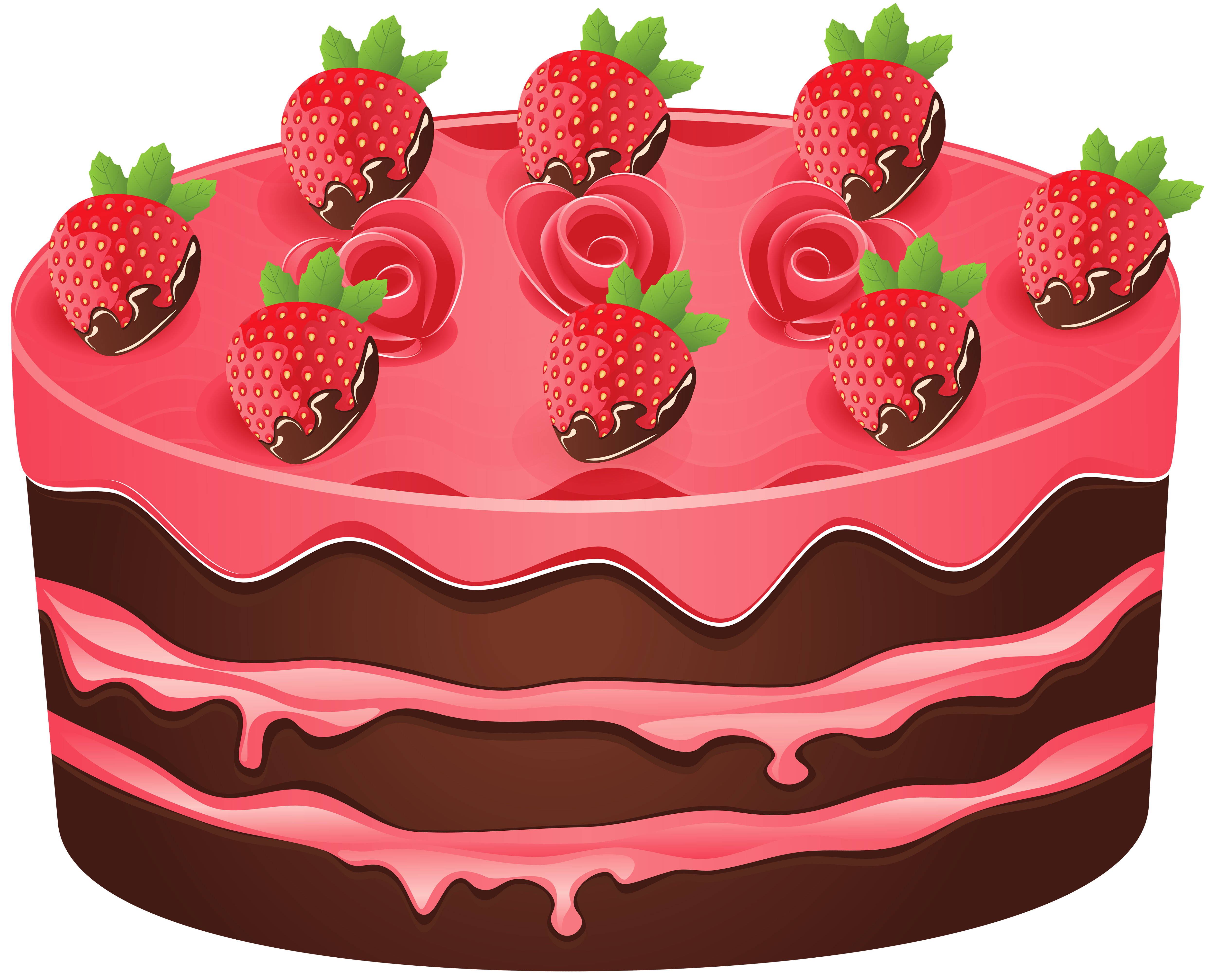 Strawberry cake png image. Cookies clipart baked goods