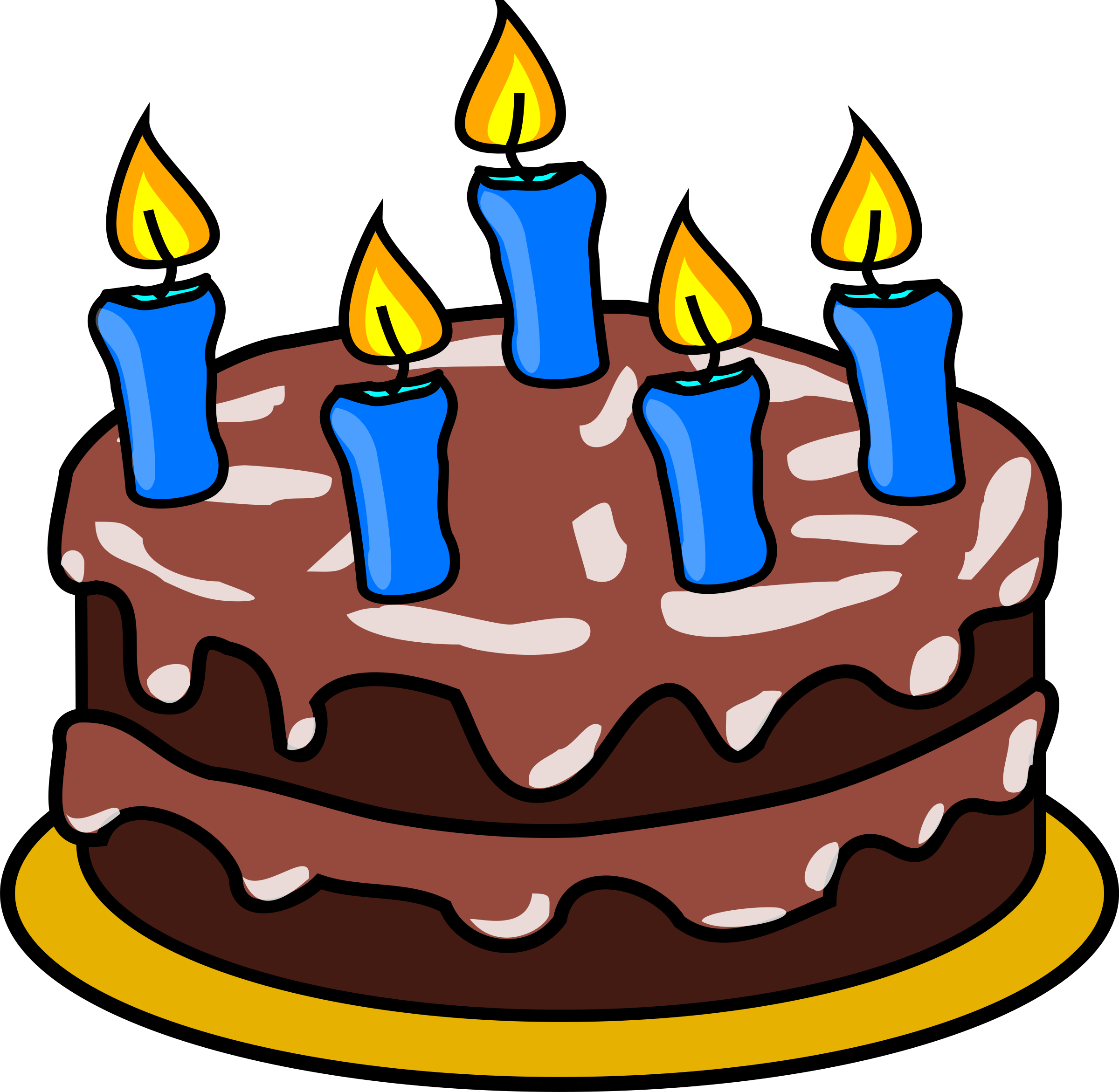 Chocolate birthday cake big. Baked goods clipart cartoon