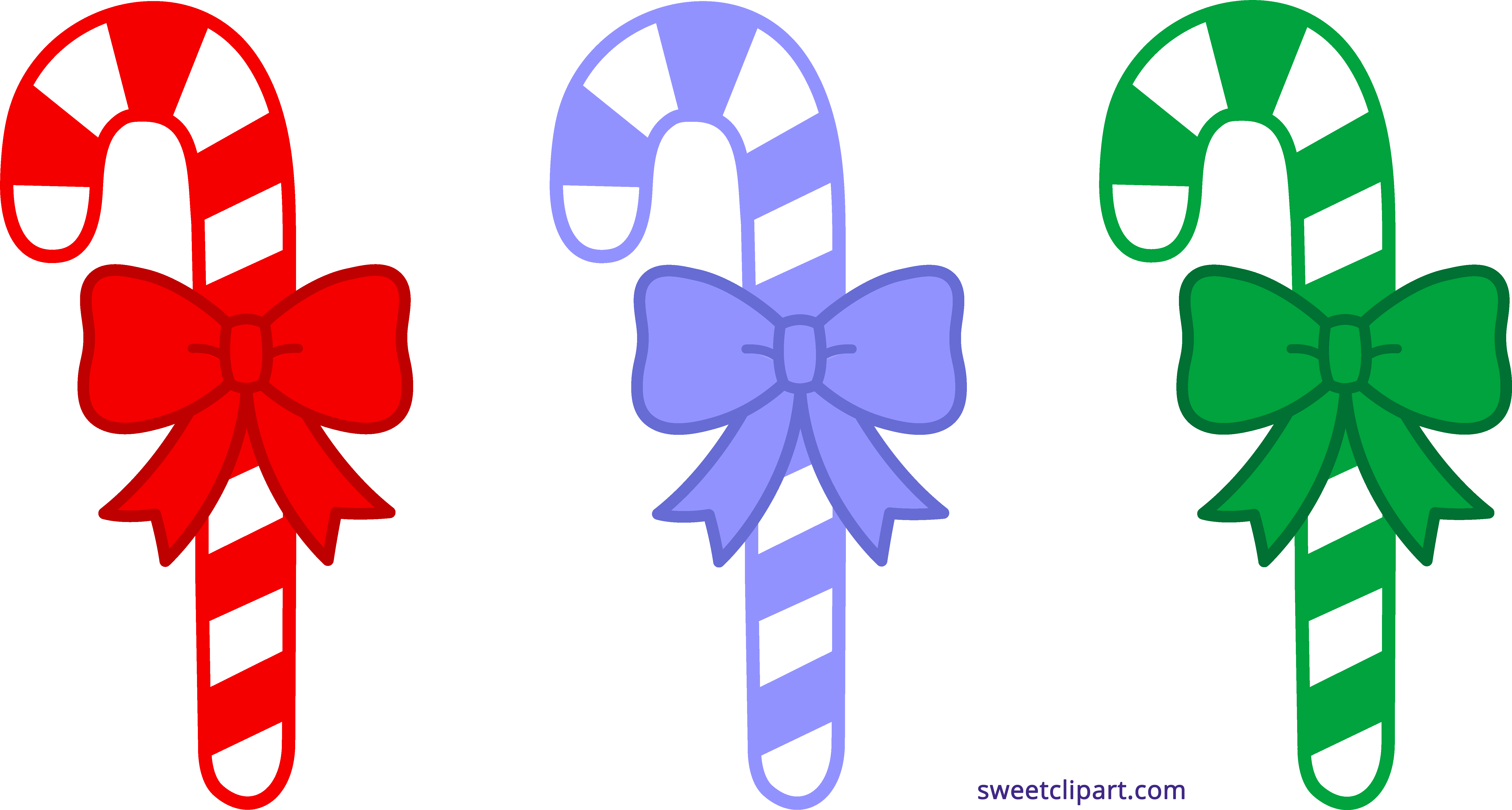 Three christmas canes sweet. Movies clipart candy