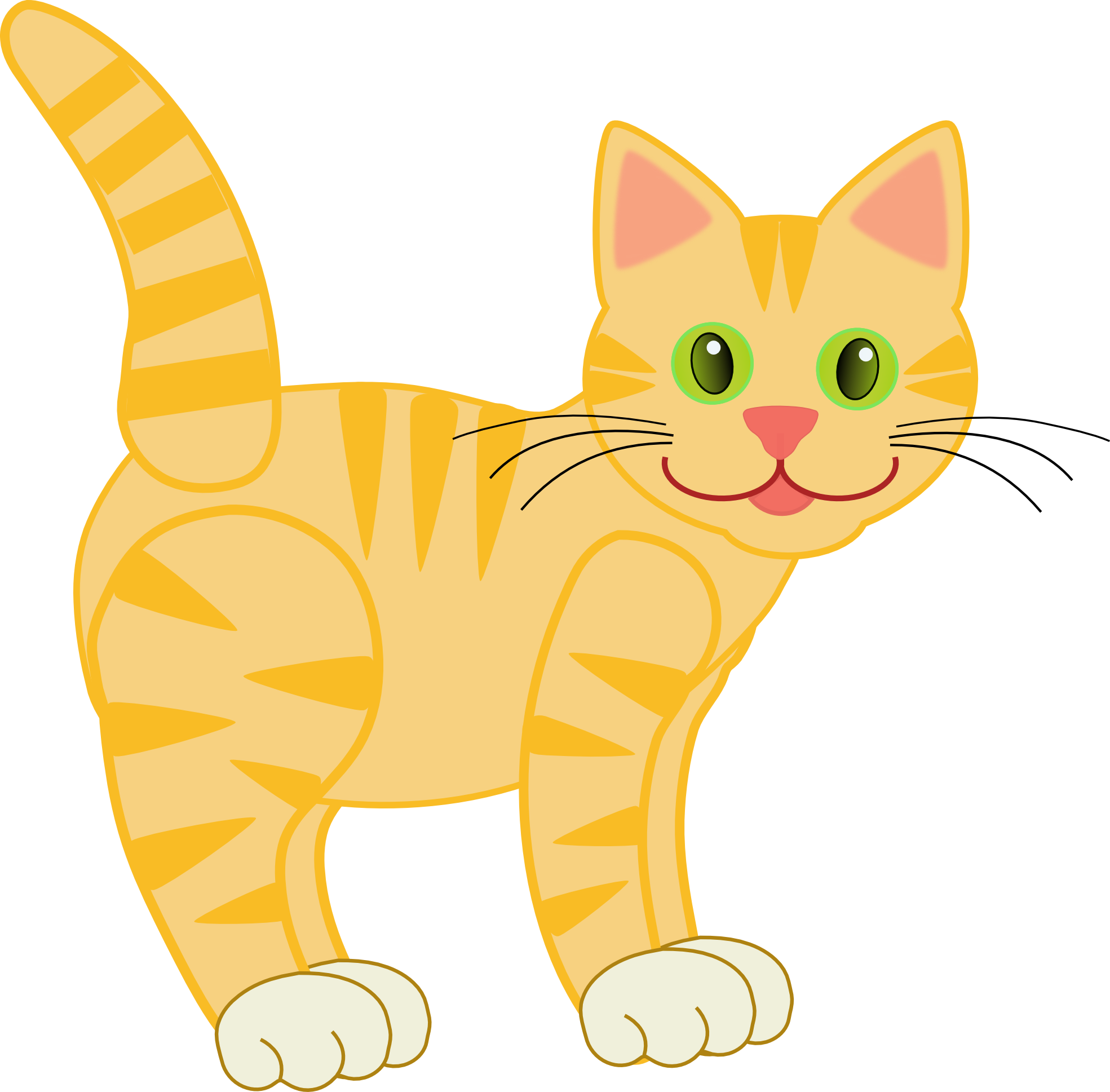 Clipart coffee cat. Clip art version yellow