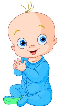 Cute baby boy illustration. A clipart child