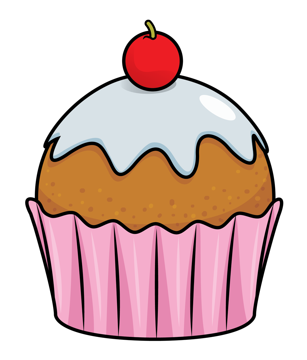Clipart birthday cupcake. Art on clip and