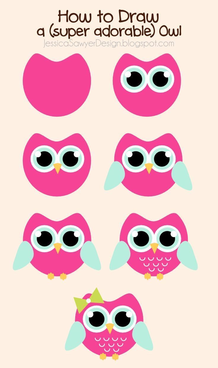 Owl drawing at getdrawings. Owls clipart easy