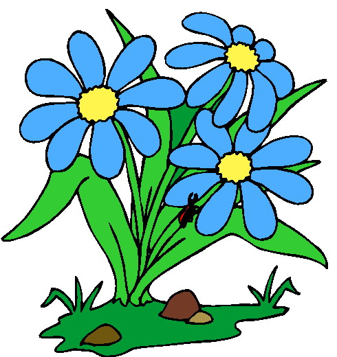 Flowers clip art and. Bush clipart flowering bush