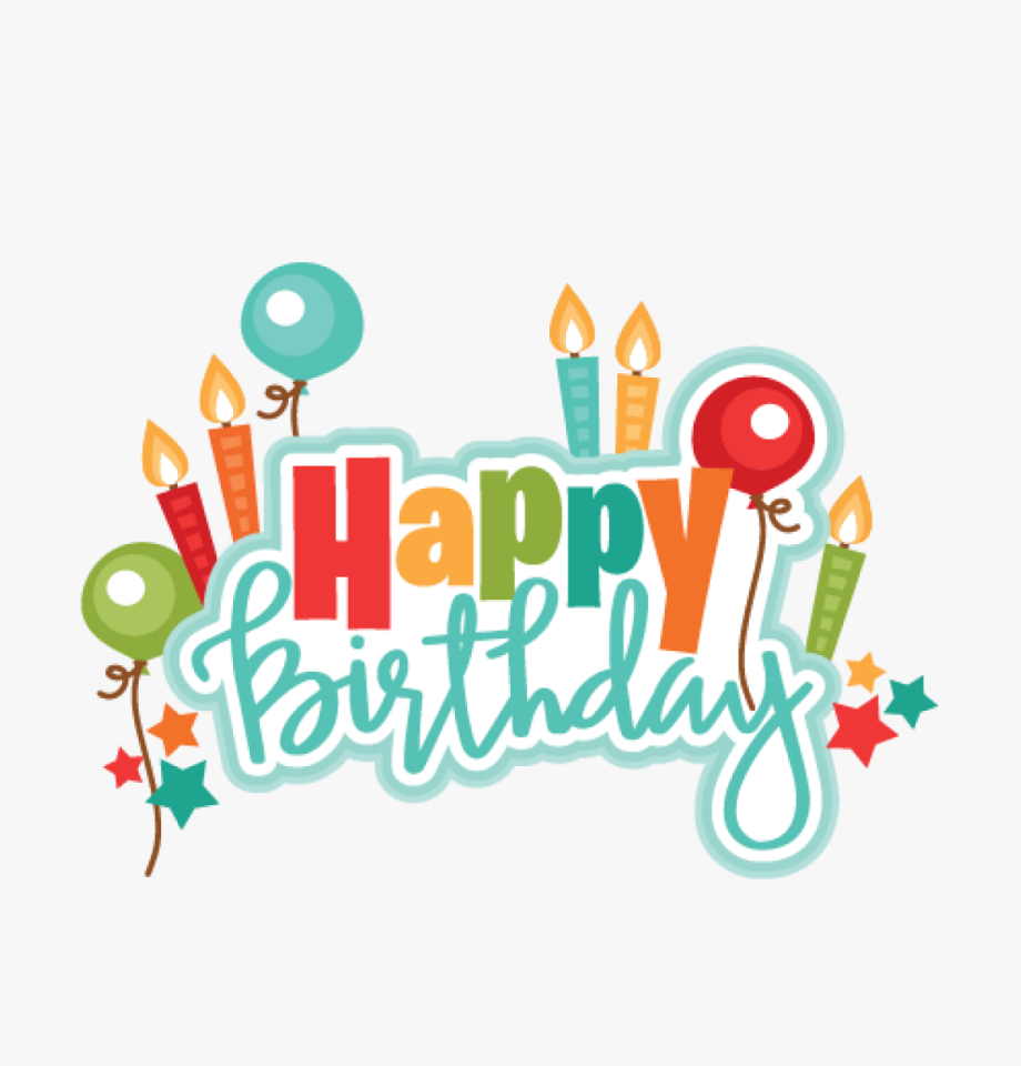 A clipart happy birthday. For him transparent