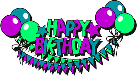 A clipart happy birthday. Free animations stars and