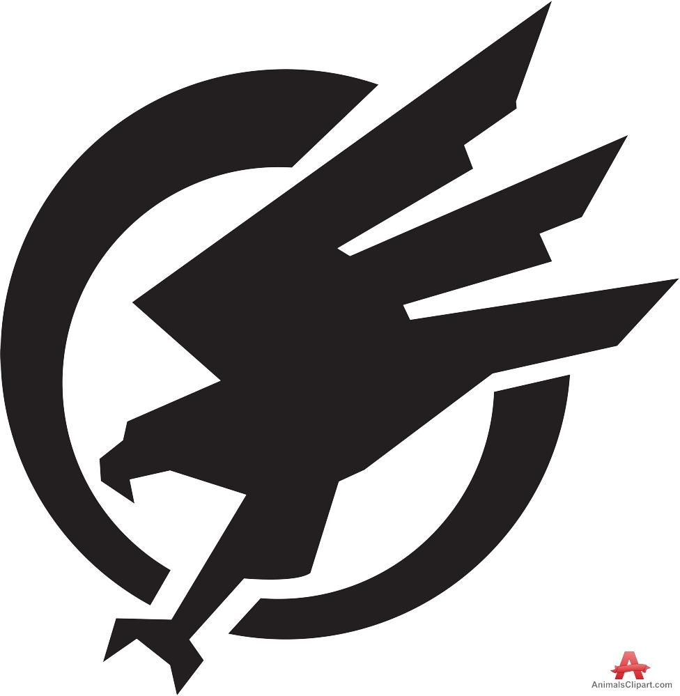 Circle free design download. Falcon clipart logo