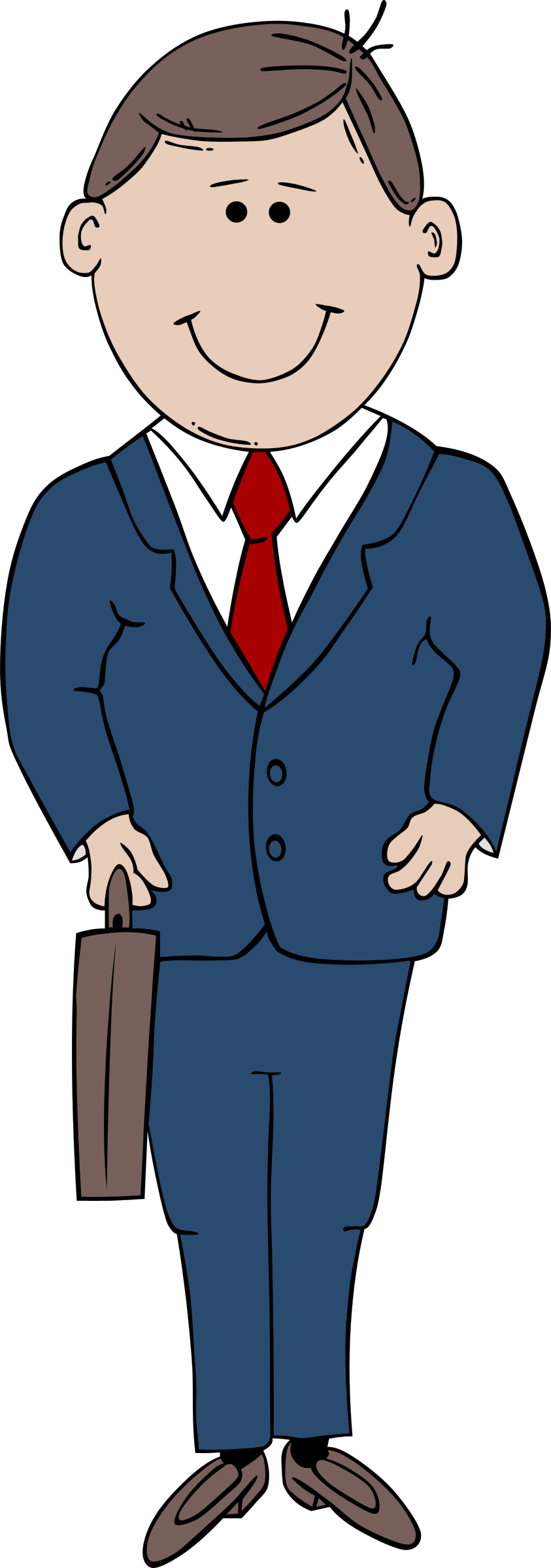 In suit big image. Person clipart man
