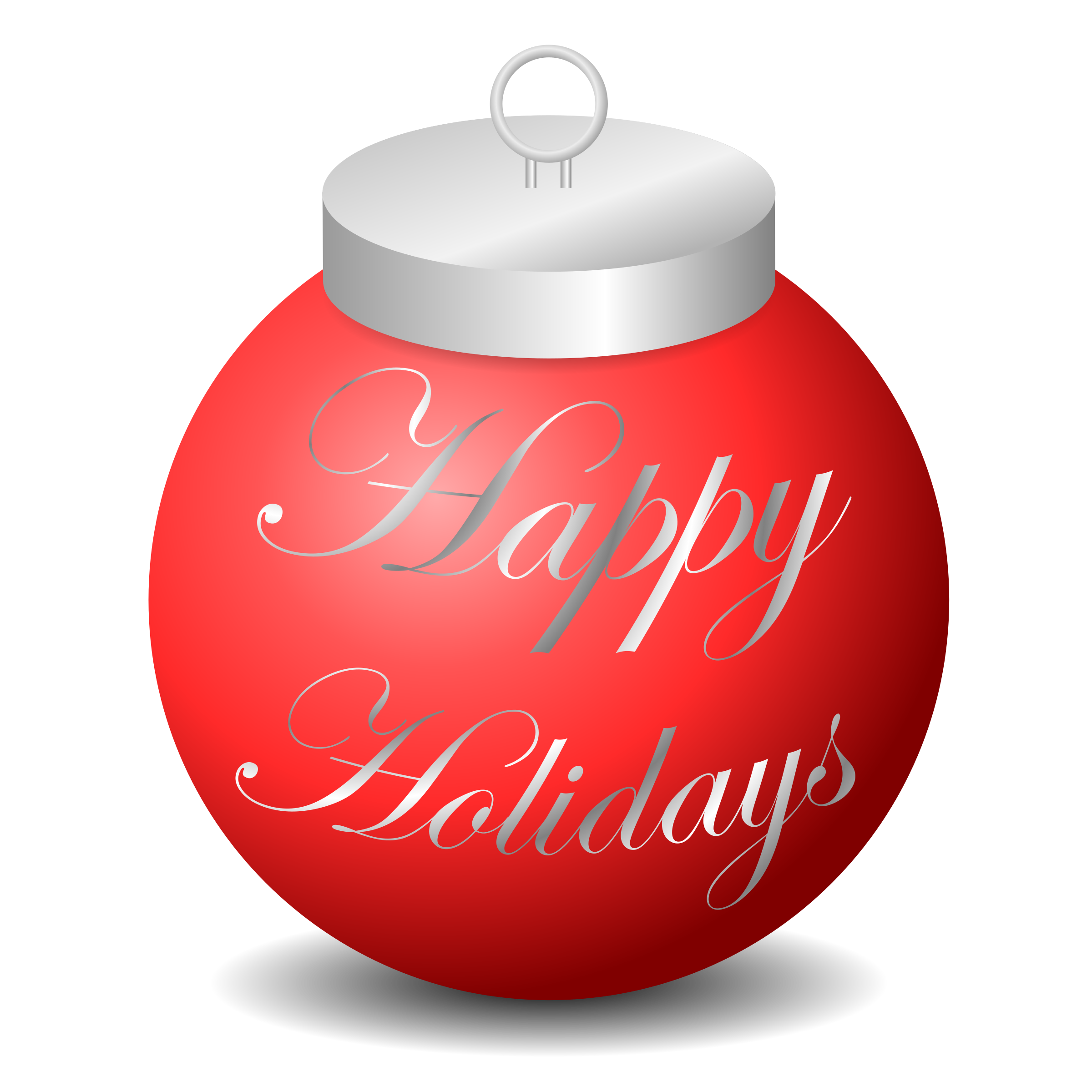 Happy ornament big image. Holidays clipart end