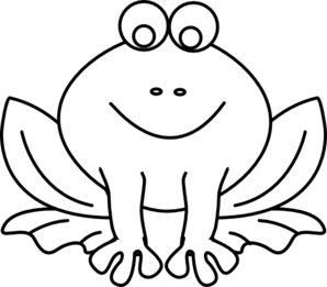 Frog clip art at. Frogs clipart outline