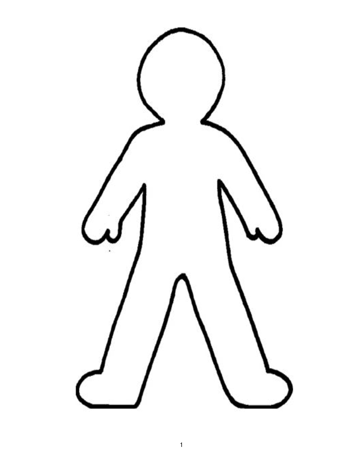 Body clipart printable. Doll outline template best