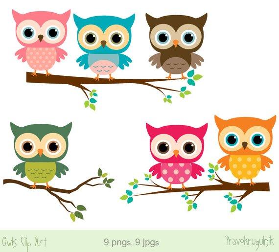 Clipart owl. Baby clip art girl