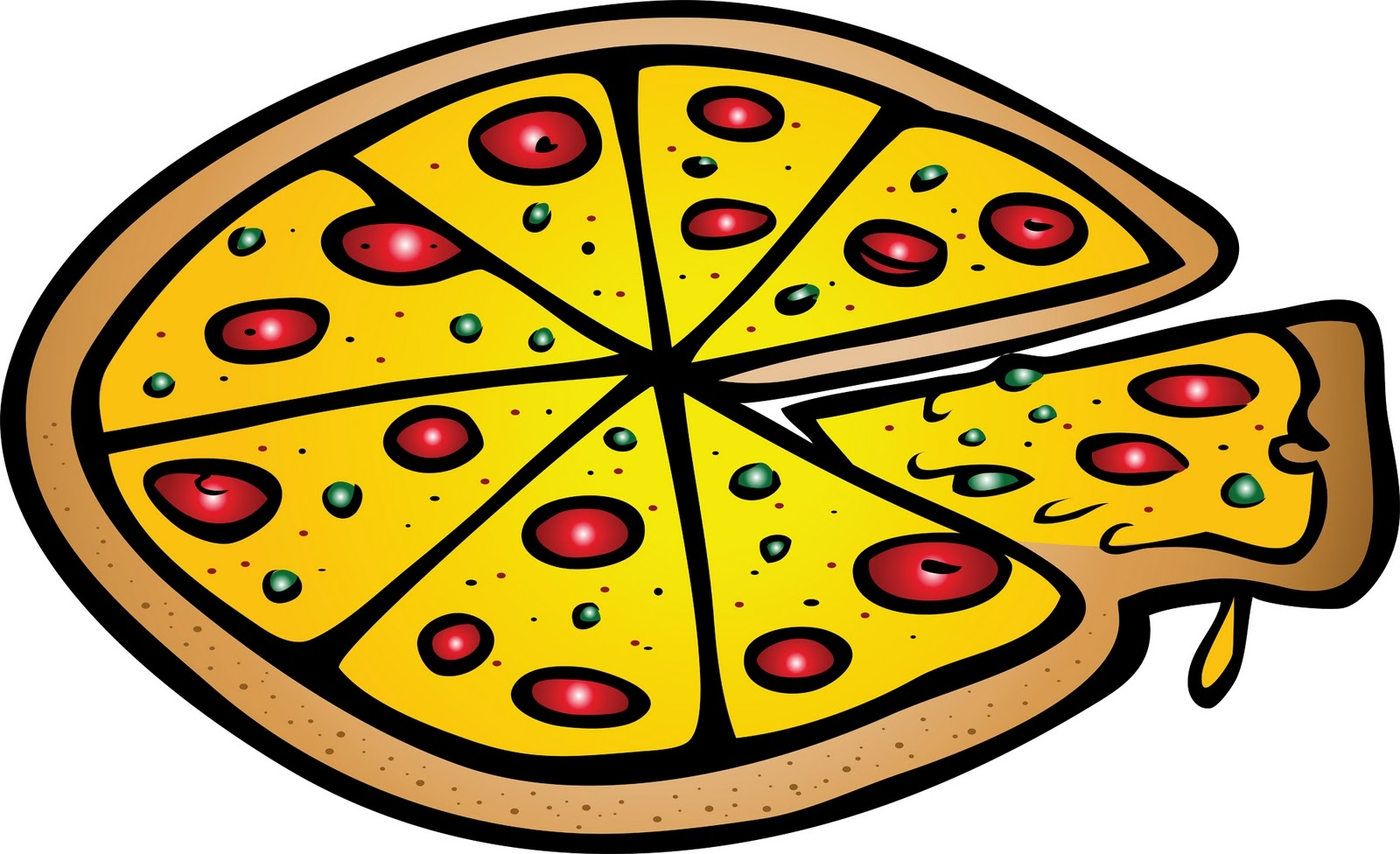 A clipart pizza. Fresh design digital collection