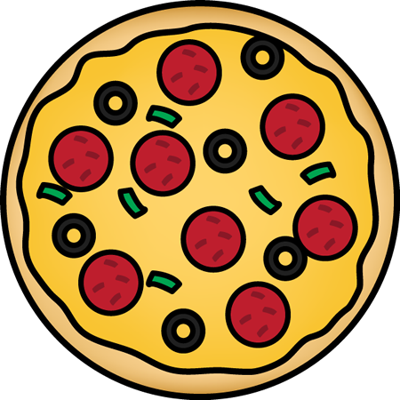 The top best blogs. A clipart pizza
