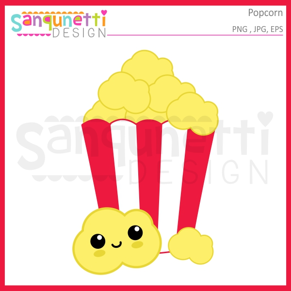 A clipart popcorn. Sanqunetti design