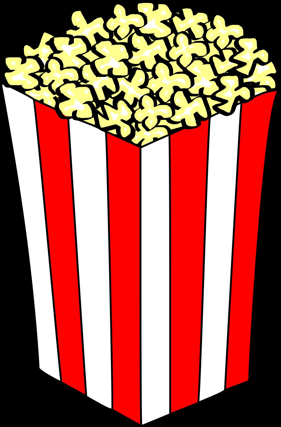 A clipart popcorn. Big image png