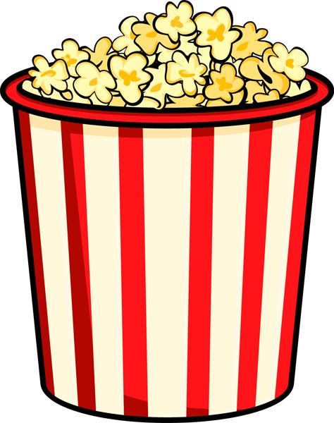 best images on. A clipart popcorn