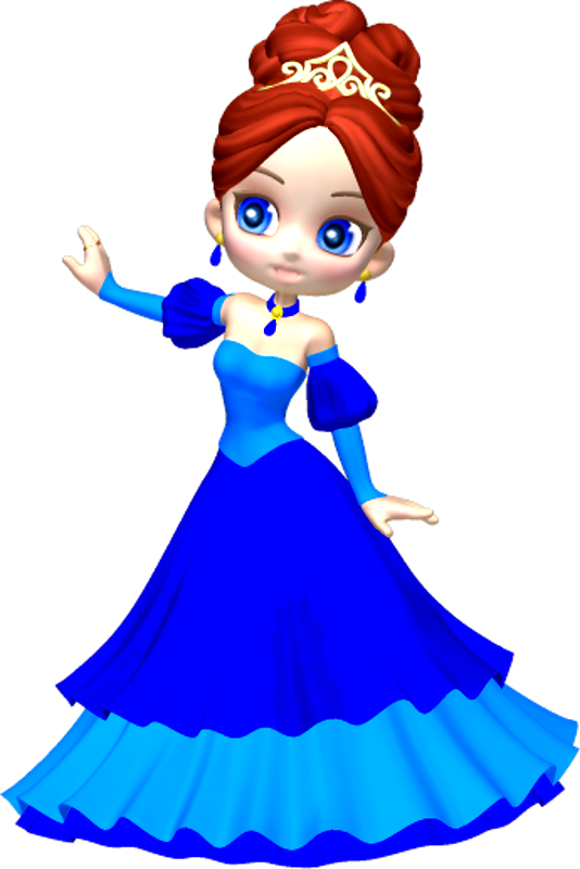 Writer clipart kalam. Princess in blue poser