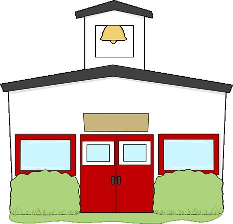 Building clip art image. Schoolhouse clipart school roof