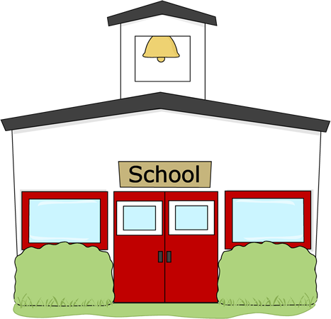 Schoolhouse clipart community school. Building clip art panda