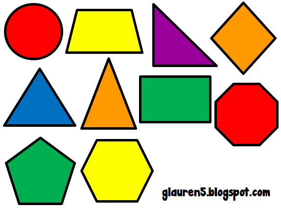 Free basic shapes cliparts. Geometry clipart color shape