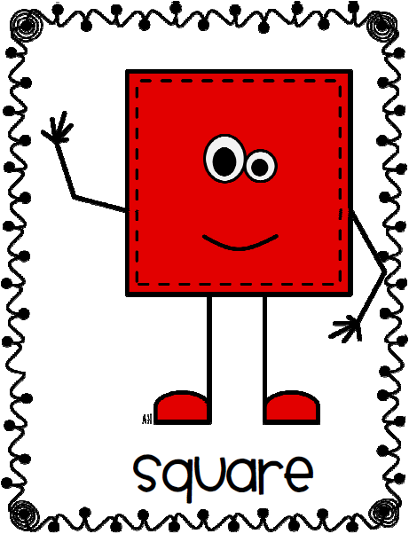 Addition clipart shape. Shapes people classroom organization