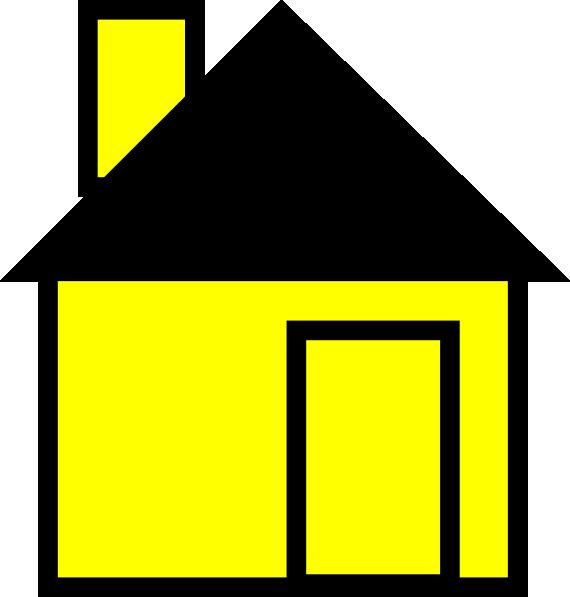 Simple house clip art. Door clipart yellow door