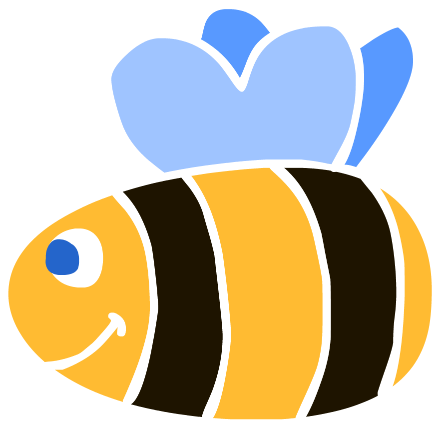 Free bees . Bee clipart simple