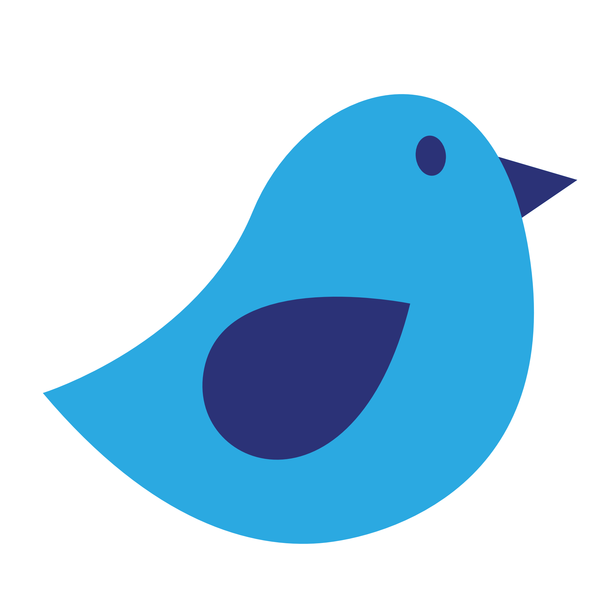 Bird . Painting clipart simple