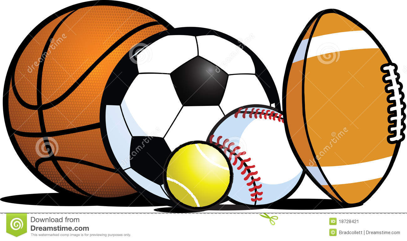 Athletic clipart ball. Sports balls borders library