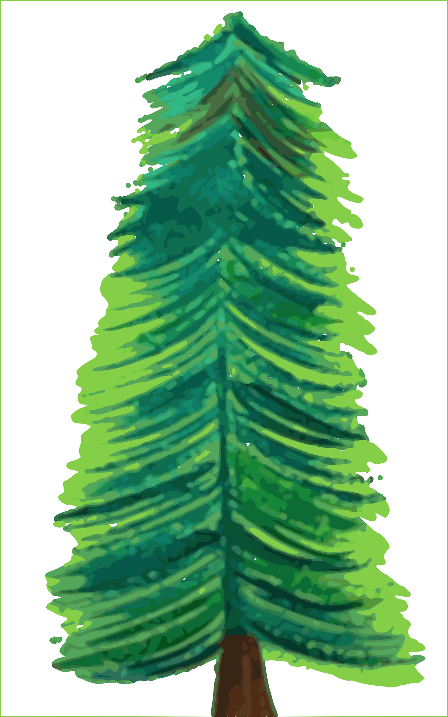 Christmas tree color big. Background clipart transparent